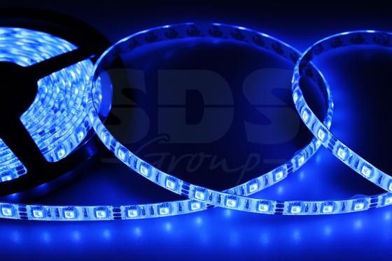 LED лента силикон, 10мм, IP65, SMD 5050, 60 LED/m, 12V, синяя waterproof 16w 900lm 60 smd 5050 led white decoration light strip 12v 3m