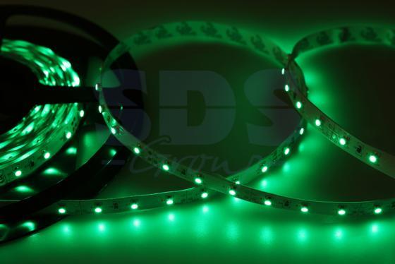 LED лента открытая, 8мм, IP23, SMD 2835, 60 LED/m, 12V, зеленая