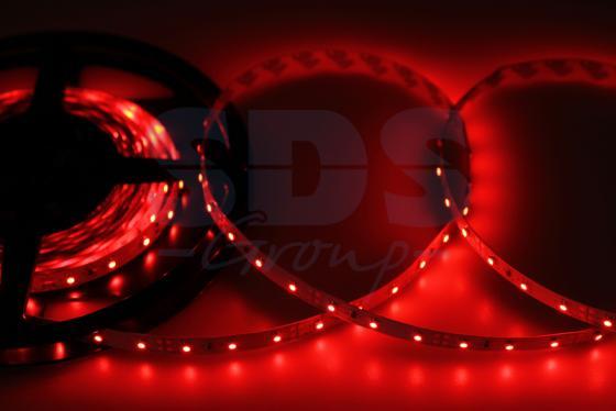 LED лента открытая, 8мм, IP23, SMD 2835, 60 LED/m, 12V, красная