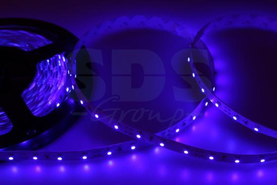 LED лента открытая, 8мм, IP23, SMD 2835, 60 LED/m, 12V, синяя