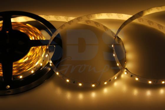 LED лента открытая, 8мм, IP23, SMD 2835, 60 LED/m, 12V, тепло-белая