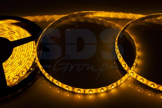 LED лента силикон, 8мм, IP65, SMD 2835, 60 LED/m, 12V, желтая