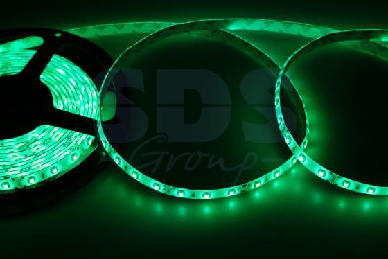 LED лента силикон, 8мм, IP65, SMD 2835, 60 LED/m, 12V, зеленая