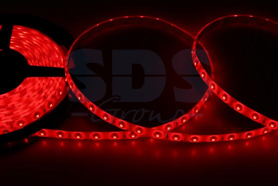 LED лента силикон, 8мм, IP65, SMD 2835, 60 LED/m, 12V, красная
