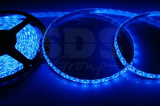 LED лента силикон, 8мм, IP65, SMD 2835, 60 LED/m, 12V, синяя