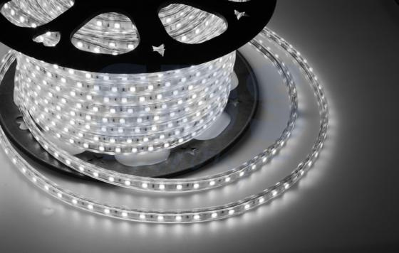 LED лента 220В, 10*7 мм, IP65, SMD 2835, 60 LED/m Белая, бухта 100 м jrled jr led 5050 smd 14 4w 500lm orange led luminous module white yellow dc 12v