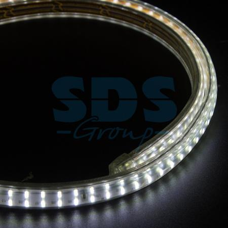 LED Лента 220В, 6.5x15мм, IP67, SMD 3014, 240 LED/м, Белый, 100м jrled e14 5w 330lm 3300k 64 smd 3014 led warm white light bulb ac 220 240v