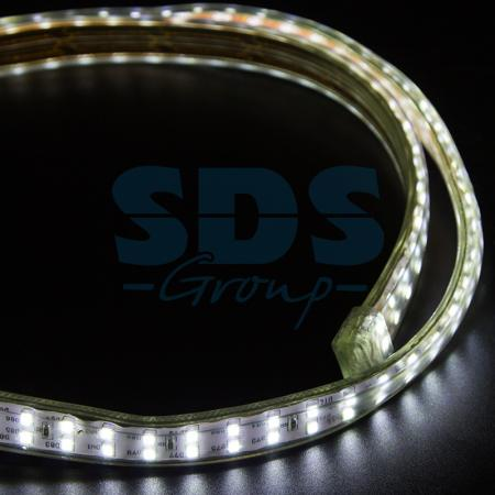 LED Лента 220В, 6.5x17мм, IP67, SMD 2835, 180 LED/м, Белый, 100м e27 4w 320lm 48 x smd 2835 led warm white light corn lamp bulb w cover ac 220 240v