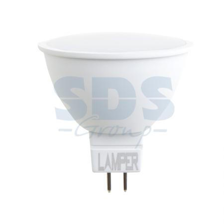 Лампа LED MR16 GU5.3 7W 4000K 580Lm 220V STANDARD Lamper лампа энергосберегающая mr16 g5 3 7w желтый 4607138149920