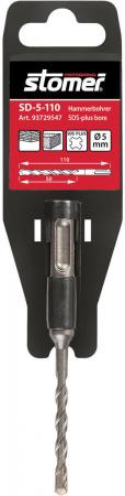 Бур STOMER SD-5-110 SDS+ 5x110мм бур stomer sds plus sd 16 260 16x260mm