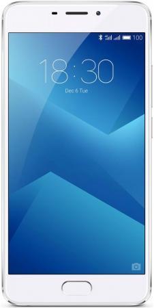 Смартфон Meizu M5 Note серебристый белый 5.5 32 Гб LTE Wi-Fi GPS 3G смартфон meizu 15 lite красный 5 46 32 гб lte wi fi gps 3g