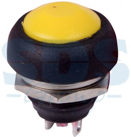 Выключатель-кнопка 250V 1А (2с) (ON)-OFF Б/Фикс желтая Micro REXANT