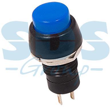 Выключатель-кнопка 250V 1А (2с) ON-OFF синяя Micro REXANT