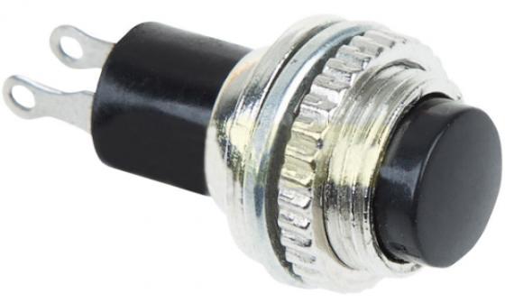Выключатель-кнопка металл 220V 2А (2с) (ON)-OFF O10.2 черная Mini REXANT