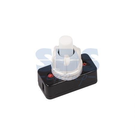Выключатель-кнопка 250V 1А (2с) ON-OFF белый (для настольной лампы) REXANT