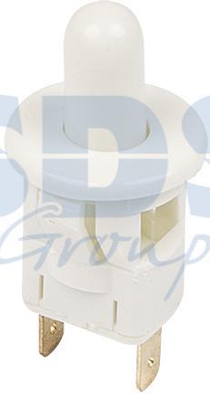 Выключатель-кнопка 250V 2.5А (2с) ON-(OFF) Б/Фикс белый (мебельная) REXANT