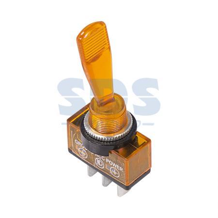 Тумблер 12V 20А (3c) ON-OFF однополюсный с желтой подсветкой REXANT