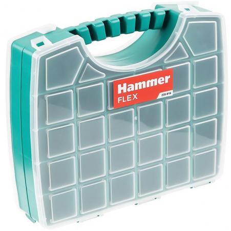 Органайзер Hammer Flex 235-016 двусторонний (56 ячеек с разделителями) 330х285х85 мм цена