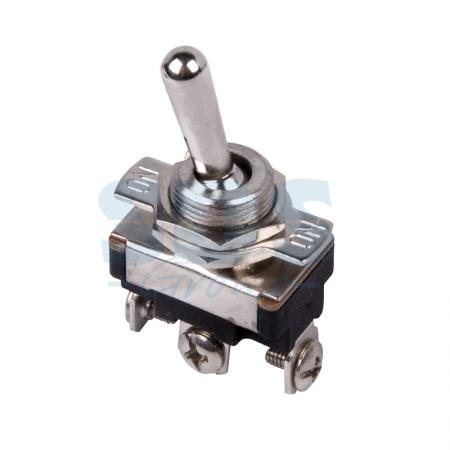 Тумблер 220V 10А (3c) ON-OFF-ON однополюсный Mini REXANT kaish 10x dpdt guitar mini toggle switch 3 position on off on 6 pin car boat switches
