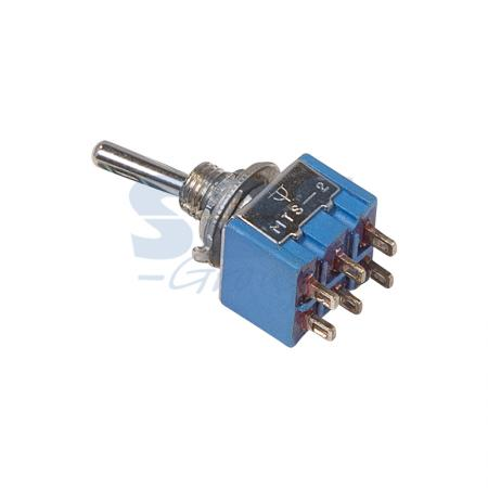 Тумблер 250V 3А (6c) ON-OFF-ON двухполюсный Micro REXANT maitech off on 2 pin 2 mode rocker switch black 5 pcs 125 250v