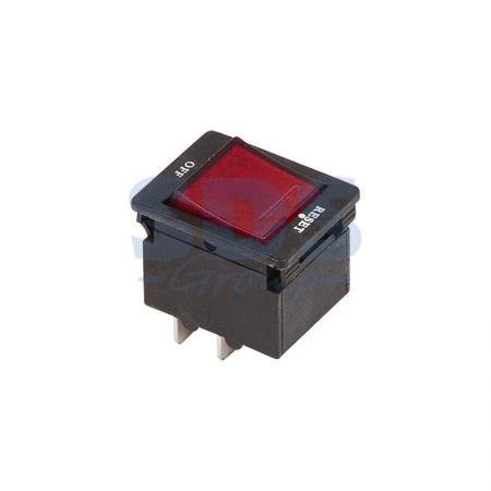 Выключатель - автомат клавишный 250V 10А (4с) RESET-OFF красный с подсветкой REXANT ksol 67 desktop computer case power supply reset hdd button switch