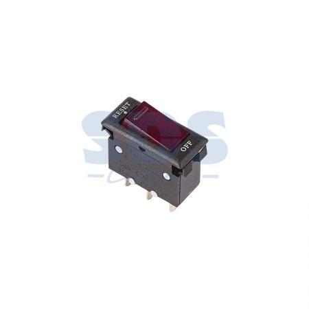 Выключатель - автомат клавишный 250V 15А (3с) RESET-OFF красный с подсветкой REXANT ksol 67 desktop computer case power supply reset hdd button switch