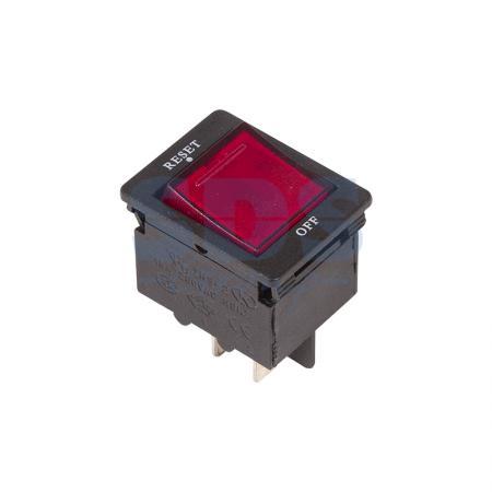 Выключатель - автомат клавишный 250V 15А (4с) RESET-OFF красный с подсветкой REXANT ksol 67 desktop computer case power supply reset hdd button switch