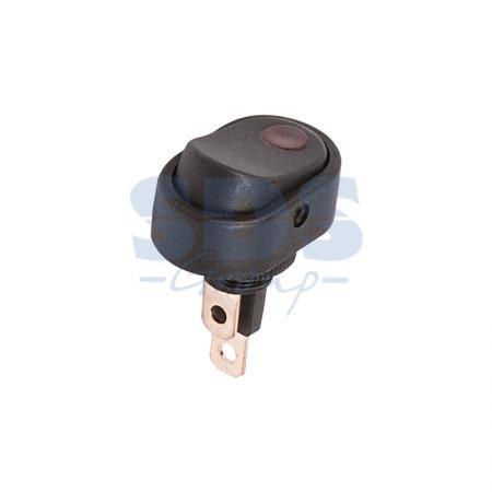 Выключатель клавишный 12V 30А (3с) ON-OFF черный ОВАЛ с красной подсветкой REXANT аккумулятор rexant 12v 40ah 30 2400