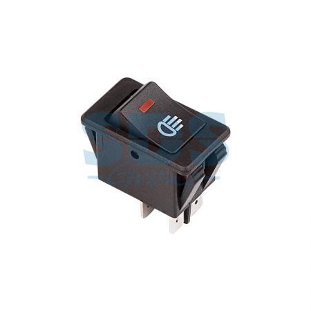 Выключатель клавишный 12V 35А (4с) ON-OFF с красной LED подсветкой REXANT аккумулятор rexant 12v 40ah 30 2400