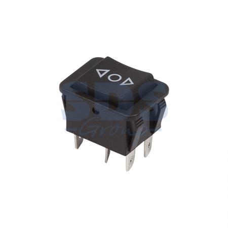 Выключатель клавишный 250V 15А (6с) (ON)-OFF-(ON) черный с нейтралью Б/Фикс REXANT 2 pcs single pole double throw on on toggle switch ac 250v 2a 125v 5a