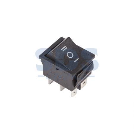Выключатель клавишный 250V 15А (6с) ON-OFF-ON черный с нейтралью REXANT 6 pin on on toggle switches orange ac 250v 2 pcs