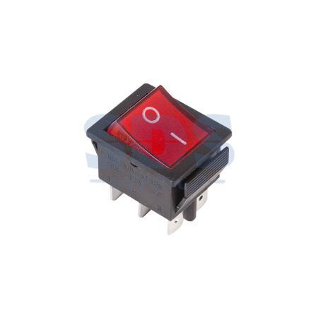 Выключатель клавишный 250V 15А (6с) ON-ON красный с подсветкой REXANT 6 pin on on toggle switches orange ac 250v 2 pcs
