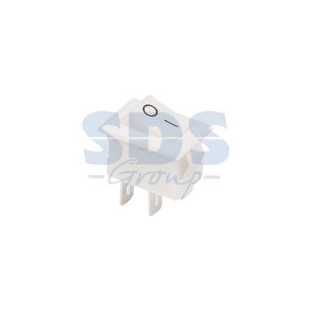 Выключатель клавишный 250V 3А (2с) ON-OFF белый Micro REXANT