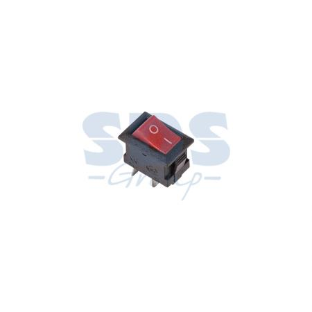 Выключатель клавишный 250V 3А (2с) ON-OFF красный Micro REXANT