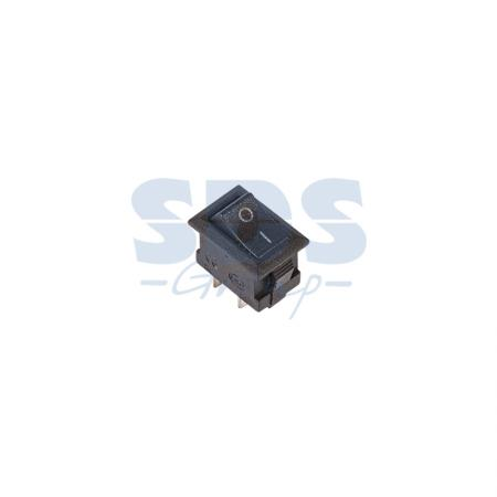 Выключатель клавишный 250V 3А (2с) ON-OFF черный Micro REXANT