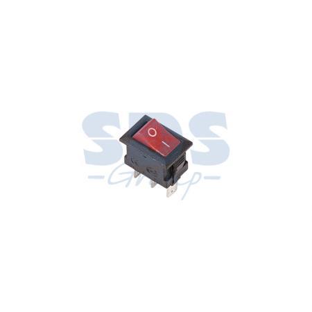 Выключатель клавишный 250V 3А (3с) ON-ON красный Micro REXANT 2 pcs single pole double throw on on toggle switch ac 250v 2a 125v 5a