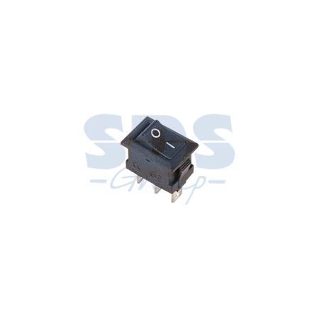 Выключатель клавишный 250V 3А (3с) ON-ON черный Micro REXANT