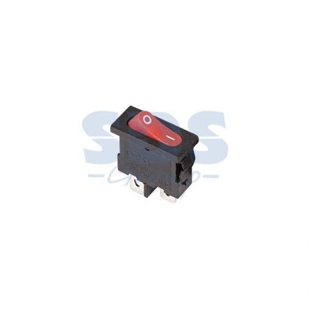 Выключатель клавишный 250V 6А (2с) ON-OFF красный Mini REXANT
