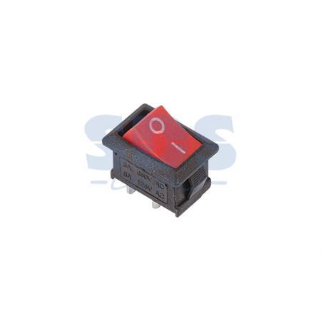 Выключатель клавишный 250V 6А (2с) ON-OFF красный Mini (RWB-201, SC-768) REXANT