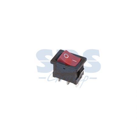 Выключатель клавишный 250V 6А (3с) ON-ON красный Mini REXANT 6 pin on on toggle switches orange ac 250v 2 pcs