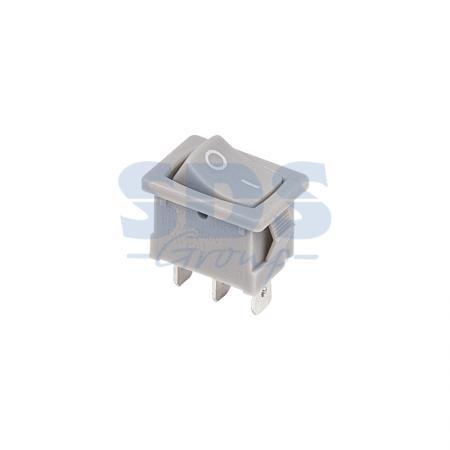 Выключатель клавишный 250V 6А (3с) ON-ON серый Mini REXANT