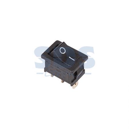 Выключатель клавишный 250V 6А (3с) ON-ON черный Mini REXANT 6 pin on on toggle switches orange ac 250v 2 pcs