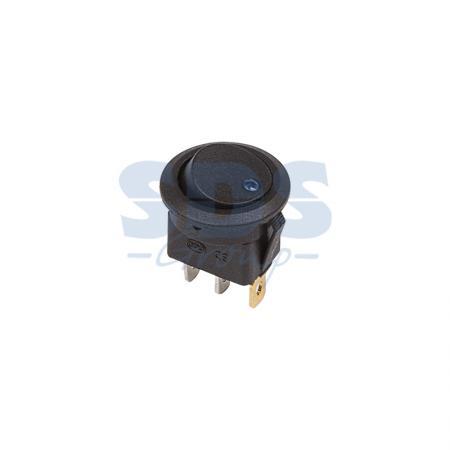 Выключатель клавишный круглый 12V 16А (3с) ON-OFF черный с синей подсветкой REXANT аккумулятор rexant 12v 40ah 30 2400