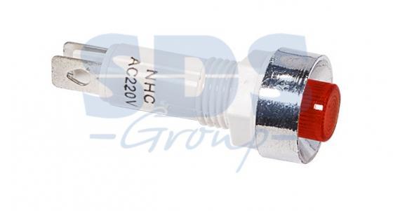 Индикатор c ОТРАЖАТЕЛЕМ O10 220V красный REXANT