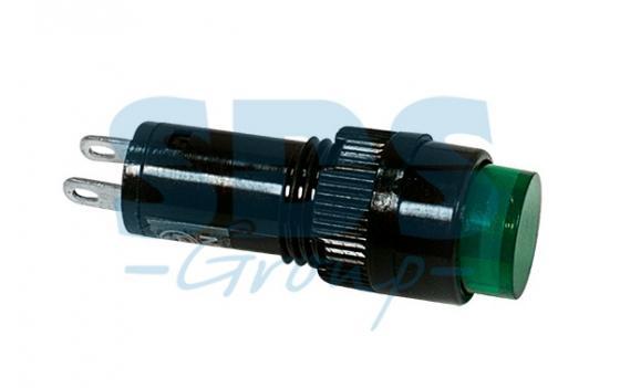 Индикатор O10 12V зеленый REXANT