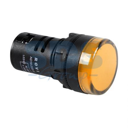 Индикатор O30 220V желтый LED REXANT