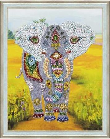 Мозаика из пайеток на холсте Слон волшебная мастерская мозаика из пайеток метрика для мальчика