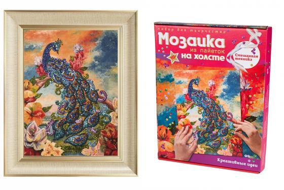 Мозайка из пайеток Волшебная мастерская Павлин волшебная мастерская мозаика из пайеток улитка