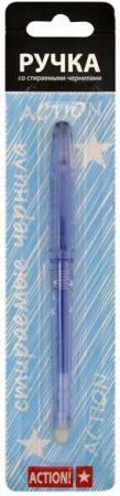 Ручка гелевая ACTION!, стираемые черные чернила, блистер с европодвесом цены онлайн