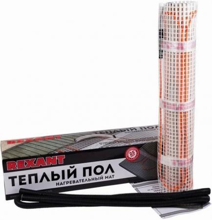 Теплый пол (нагревательный МАТ) REXANT Extra, площадь 4,0 м2 (0,5 х 8,0метров), 640Вт, (двух жильный) теплый пол нагревательный мат rexant extra площадь 3 5 м2 0 5 х 7 0 метров 560вт двух жильный